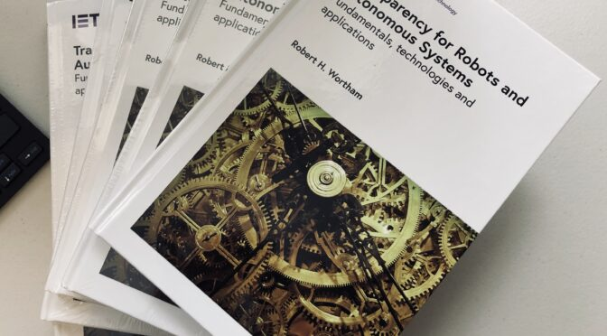 New Book: Transparency for Robots and Autonomous Systems